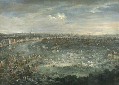 'The Thames during the Great Frost of 1739'